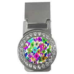 Floral Colorful Background Of Hand Drawn Flowers Money Clips (cz)