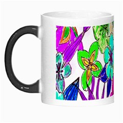 Floral Colorful Background Of Hand Drawn Flowers Morph Mugs