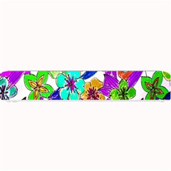 Floral Colorful Background Of Hand Drawn Flowers Small Bar Mats