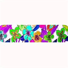 Floral Colorful Background Of Hand Drawn Flowers Large Bar Mats