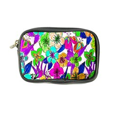 Floral Colorful Background Of Hand Drawn Flowers Coin Purse