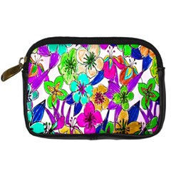 Floral Colorful Background Of Hand Drawn Flowers Digital Camera Cases