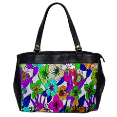 Floral Colorful Background Of Hand Drawn Flowers Office Handbags