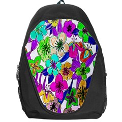 Floral Colorful Background Of Hand Drawn Flowers Backpack Bag