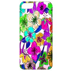 Floral Colorful Background Of Hand Drawn Flowers Apple iPhone 5 Classic Hardshell Case