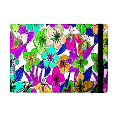 Floral Colorful Background Of Hand Drawn Flowers Apple Ipad Mini Flip Case