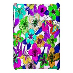 Floral Colorful Background Of Hand Drawn Flowers Apple Ipad Mini Hardshell Case