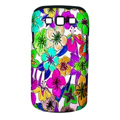 Floral Colorful Background Of Hand Drawn Flowers Samsung Galaxy S Iii Classic Hardshell Case (pc+silicone)