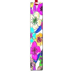 Floral Colorful Background Of Hand Drawn Flowers Large Book Marks