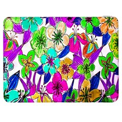 Floral Colorful Background Of Hand Drawn Flowers Samsung Galaxy Tab 7  P1000 Flip Case