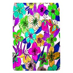 Floral Colorful Background Of Hand Drawn Flowers Flap Covers (l)