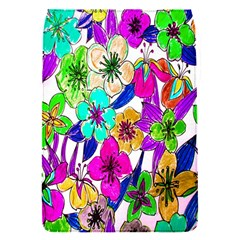 Floral Colorful Background Of Hand Drawn Flowers Flap Covers (S)