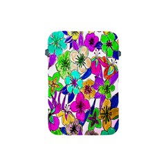 Floral Colorful Background Of Hand Drawn Flowers Apple Ipad Mini Protective Soft Cases