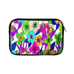 Floral Colorful Background Of Hand Drawn Flowers Apple Ipad Mini Zipper Cases