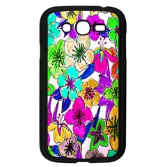 Floral Colorful Background Of Hand Drawn Flowers Samsung Galaxy Grand Duos I9082 Case (black)