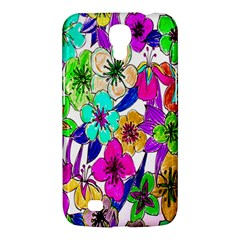 Floral Colorful Background Of Hand Drawn Flowers Samsung Galaxy Mega 6 3  I9200 Hardshell Case