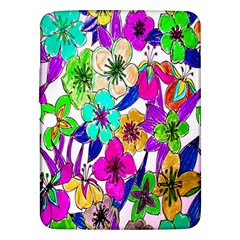 Floral Colorful Background Of Hand Drawn Flowers Samsung Galaxy Tab 3 (10 1 ) P5200 Hardshell Case