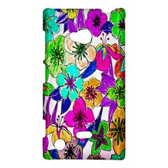 Floral Colorful Background Of Hand Drawn Flowers Nokia Lumia 720