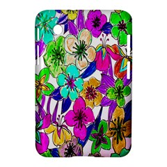 Floral Colorful Background Of Hand Drawn Flowers Samsung Galaxy Tab 2 (7 ) P3100 Hardshell Case