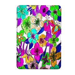 Floral Colorful Background Of Hand Drawn Flowers Samsung Galaxy Tab 2 (10.1 ) P5100 Hardshell Case
