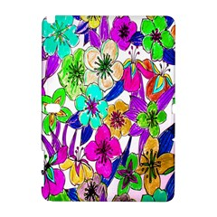 Floral Colorful Background Of Hand Drawn Flowers Galaxy Note 1