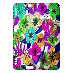 Floral Colorful Background Of Hand Drawn Flowers Kindle Fire HDX Hardshell Case