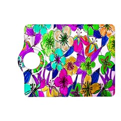 Floral Colorful Background Of Hand Drawn Flowers Kindle Fire Hd (2013) Flip 360 Case