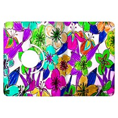 Floral Colorful Background Of Hand Drawn Flowers Kindle Fire Hdx Flip 360 Case