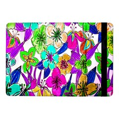 Floral Colorful Background Of Hand Drawn Flowers Samsung Galaxy Tab Pro 10.1  Flip Case