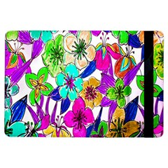 Floral Colorful Background Of Hand Drawn Flowers iPad Air Flip