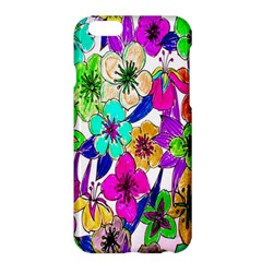 Floral Colorful Background Of Hand Drawn Flowers Apple Iphone 6 Plus/6s Plus Hardshell Case