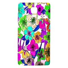 Floral Colorful Background Of Hand Drawn Flowers Galaxy Note 4 Back Case