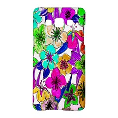 Floral Colorful Background Of Hand Drawn Flowers Samsung Galaxy A5 Hardshell Case