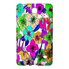 Floral Colorful Background Of Hand Drawn Flowers Samsung Galaxy Tab 4 (8 ) Hardshell Case