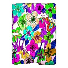 Floral Colorful Background Of Hand Drawn Flowers Samsung Galaxy Tab S (10 5 ) Hardshell Case