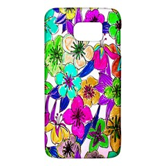 Floral Colorful Background Of Hand Drawn Flowers Galaxy S6