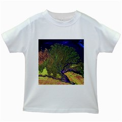 Lena River Delta A Photo Of A Colorful River Delta Taken From A Satellite Kids White T-Shirts