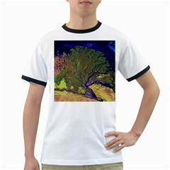Lena River Delta A Photo Of A Colorful River Delta Taken From A Satellite Ringer T Shirts