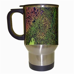 Lena River Delta A Photo Of A Colorful River Delta Taken From A Satellite Travel Mugs (White)
