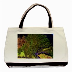 Lena River Delta A Photo Of A Colorful River Delta Taken From A Satellite Basic Tote Bag