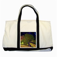Lena River Delta A Photo Of A Colorful River Delta Taken From A Satellite Two Tone Tote Bag