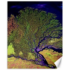 Lena River Delta A Photo Of A Colorful River Delta Taken From A Satellite Canvas 16  x 20