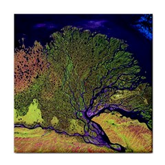 Lena River Delta A Photo Of A Colorful River Delta Taken From A Satellite Face Towel