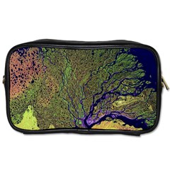 Lena River Delta A Photo Of A Colorful River Delta Taken From A Satellite Toiletries Bags 2-Side