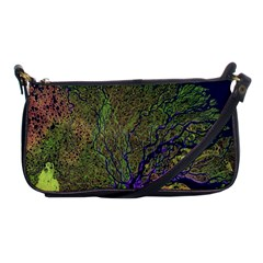 Lena River Delta A Photo Of A Colorful River Delta Taken From A Satellite Shoulder Clutch Bags