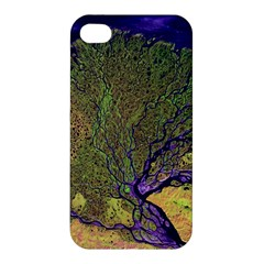 Lena River Delta A Photo Of A Colorful River Delta Taken From A Satellite Apple iPhone 4/4S Premium Hardshell Case