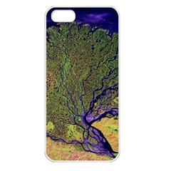 Lena River Delta A Photo Of A Colorful River Delta Taken From A Satellite Apple iPhone 5 Seamless Case (White)