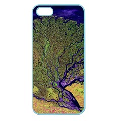 Lena River Delta A Photo Of A Colorful River Delta Taken From A Satellite Apple Seamless iPhone 5 Case (Color)