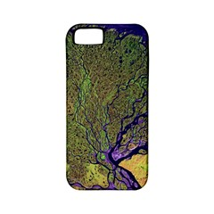 Lena River Delta A Photo Of A Colorful River Delta Taken From A Satellite Apple iPhone 5 Classic Hardshell Case (PC+Silicone)