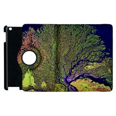 Lena River Delta A Photo Of A Colorful River Delta Taken From A Satellite Apple iPad 2 Flip 360 Case